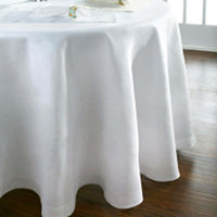 Home Treasures Provenza Table Linens - A solid 100% Italian linen, finished with a tone-on-tone, hand-guided hemstitch.