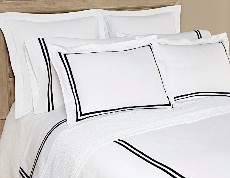 Home Treasures Ribbons Bedding includes a duvet, dust ruffle, shams, pillowcases.