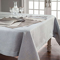 Home Treasures Zebra Table Linens - A 100% Italian yarn-dyed linen jacquard that is available in Solid or Herringbone patterns, class=