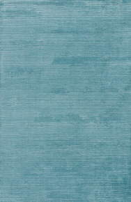 This hand-loomed area rug boasts a lustrous tone-on-tone aqua colorway with texture-rich stripes creating a ridged high-low feel.