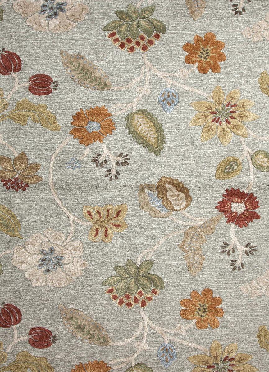 ~Jaipur Rug BL83   Blue Collection 70% Wool 30% Art Silk Rug