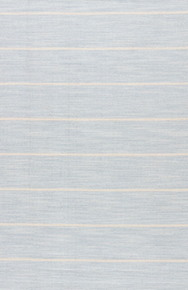 Classic with a bold stripe, this soft blue and cool white flatweave area rug lends traditional charm to any space.