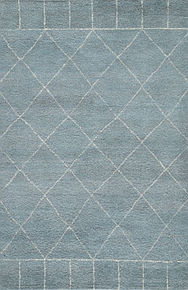 Inspired by simple nomadic designs, this hand-knotted area rug's design offers a sleek Moroccan motif to modern homes.