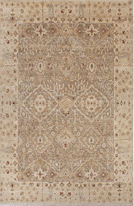 Beautifully mastered in every detail, this hand-knotted wool area rug recalls the vibrant and rich color of vegetable-dyed textiles.