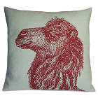 Kevin O'Brien Studio Animal Printed Dec Pillow is 100% Linen.