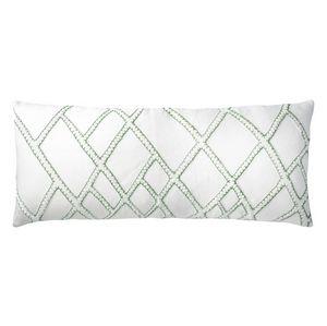 Kevin O'Brien Studio Stars Appliqued Linen Throw Pillow