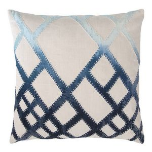 Kevin O'Brien Studio Net Embroidered Velvet Applique Decorative Pillows