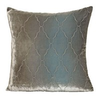 Kevin O'Brien Studio Arches Velvet Pillows - Metallic Willow