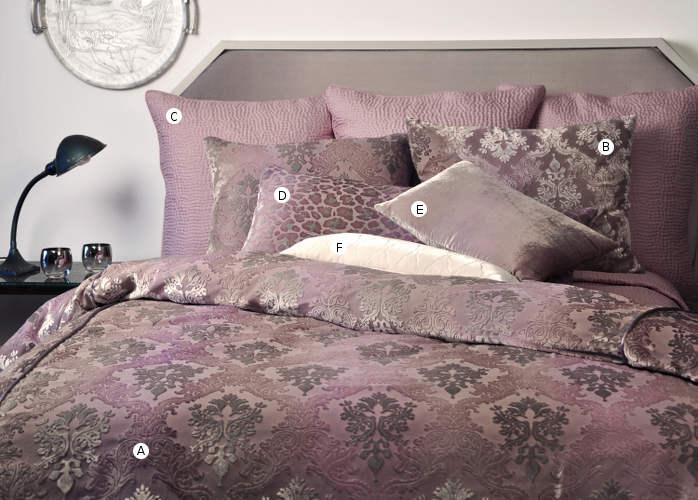 Kevin O'Brien Studio Bedding - Brocade Iris Velvet Bedding