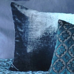 Kevin O'Brien Studio Ombre Solid Velvet Pillow - Casablanca