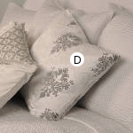 Kevin O'Brien Studio Brocade Velvet Dec Pillow - Casablanca White