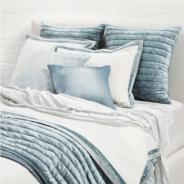 Kevin OBrien Studio Double Tux Linen Bedding in Mineral