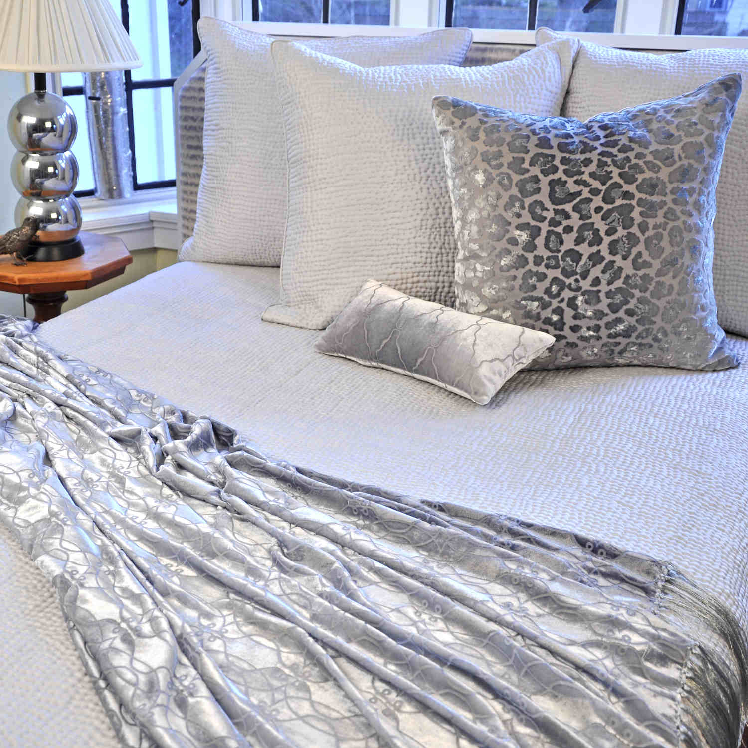 Kevin Ou0027Brien Studio Bedding   Hammered Silk Quilted Coverlet