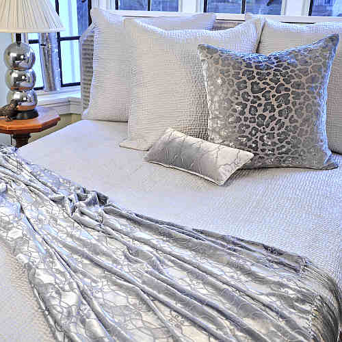 DefiningElegance.com presents Kevin O'Brien Studio Hammered Silk Bedding.