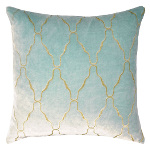 Kevin O'Brien Studio Metallic Arches Velvet Pillows & Shams - Knotted Sage
