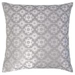 Kevin O'Brien Studio Metallic Small Moroccan Velvet Dec Pillows - Knotted Sterling