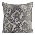 Kevin O'Brien Studio Brocade Velvet Dec Pillow - Knotted White