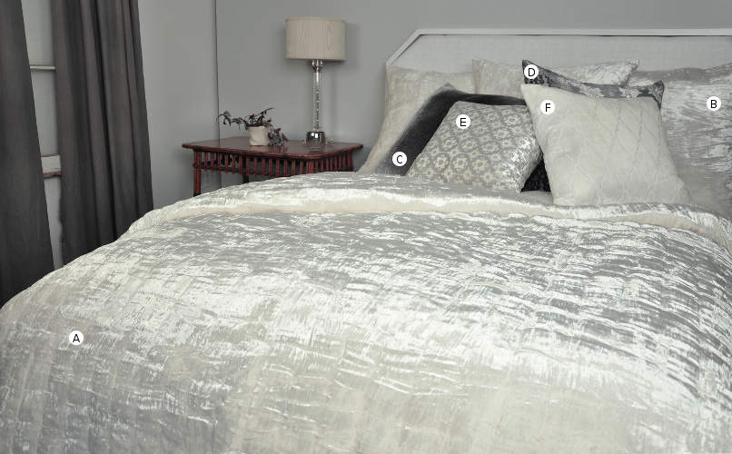DefiningElegance.com presents Kevin O'Brien Studio Knotted Velvet Bedding.