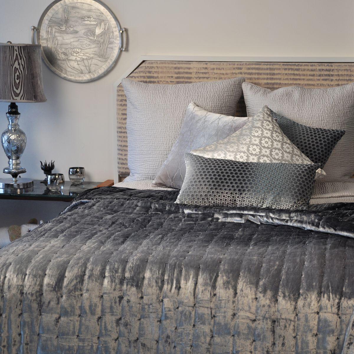 Kevin O Brien Studio Bedding Knotted Velvet Quilt