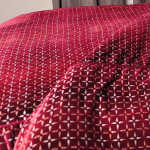 Kevin O'Brien Studio Metallic Petals Velvet Duvet Cover - Raspberry