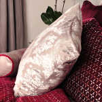 Kevin O'Brien Studio Brocade Velvet Dec Pillow - Metallic Petals
