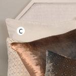 Kevin O'Brien Studio Ombre Solid Velvet Accent Pillow - Metallic Petals