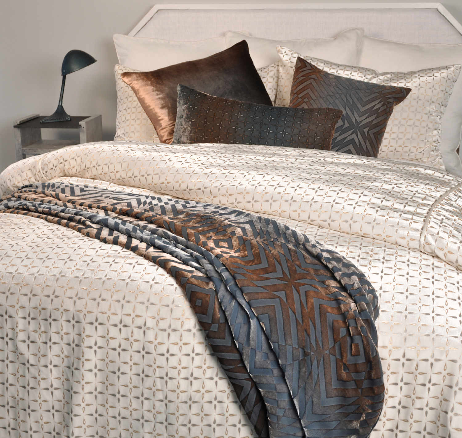 metallic cover itm luxury sets home embroidered duvet nimsay bedding designer embroidery