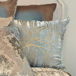 Kevin O'Brien Studio Metallic Willow Velvet Sham