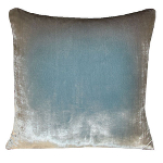 Kevin O'Brien Studio Ombre Solid Velvet Dec Pillow - Metallic Willow