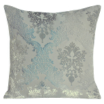 Kevin O'Brien Studio Brocade Velvet Dec Pillow - Metallic Willow