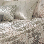 Kevin O'Brien Studio Metallic Willow Velvet Duvet Cover - White