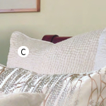 Kevin O'Brien Studio Hammered Quilted Euro Sham - White