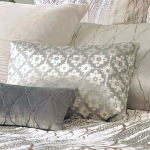 Kevin O'Brien Studio Metallic Small Moroccan Velvet Dec Pillows - Metallic Willow