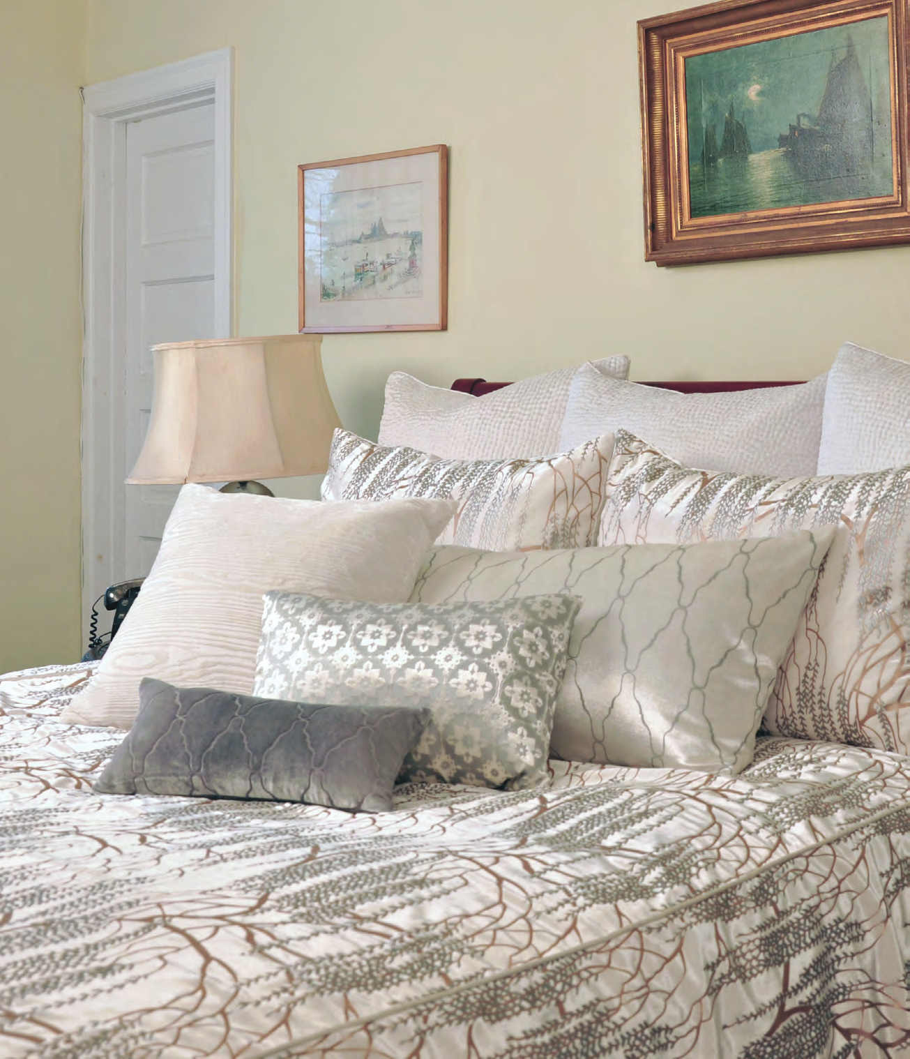 pillowcase set champagne duvet grey velvet glitter with itm bed cover bedding silver sienna