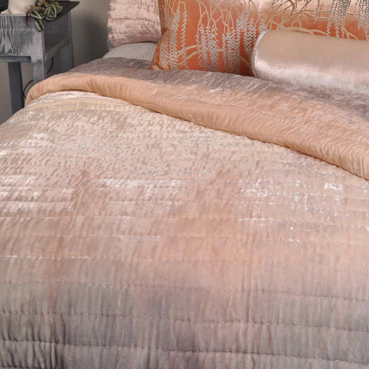Kevin O Brien Studio Ophelia Opal Quilted Coverlet