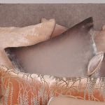 Kevin O'Brien Studio Ombre Solid Velvet Dec Pillow - Ophelia Opal