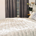 Kevin O'Brien Studio Ophelia White Velvet Quilted Coverlet