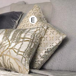 Kevin O'Brien Studio Metallic Petals Pillows & Shams - Ophelia White