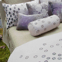 Kevin O'Brien Studio Bedding - Ovals Embroidered Bedding