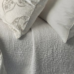 Kevin O'Brien Studio Hammered Silk Coverlet - Persian White