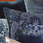 Kevin O'Brien Studio Moroccan Velvet Dec Pillow - Snakeskin