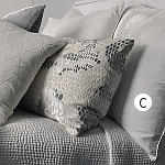 Kevin O'Brien Studio Solid Velvet Dec Pillows - Snakeskin