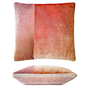 Colorblock Velvet Pillow