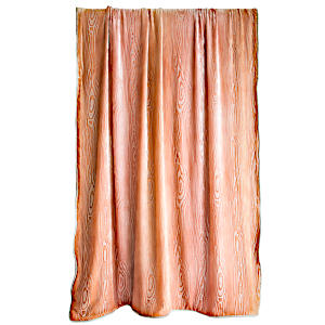 Woodgrain Velvet Throw, Double-sided with Cording