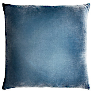 Ombre Velvet Pillow in denim color