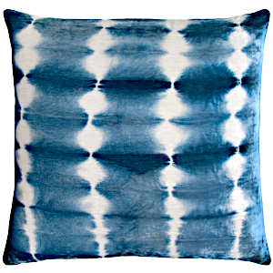Rorschach Velvet Pillow in Azul