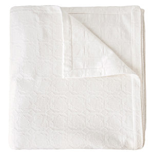 Starflower Ivory Coverlet