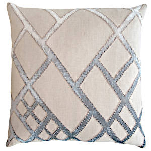 Kevin O'Brien Studio Net Appliqued Linen Pillow