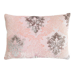 Kevin O'Brien Studio Brocade Velvet Dec Pillow - Blush