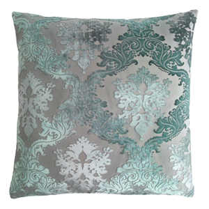 Kevin O'Brien Studio Brocade Velvet Dec Pillow - Jade